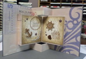Inside of Nautical Book Card