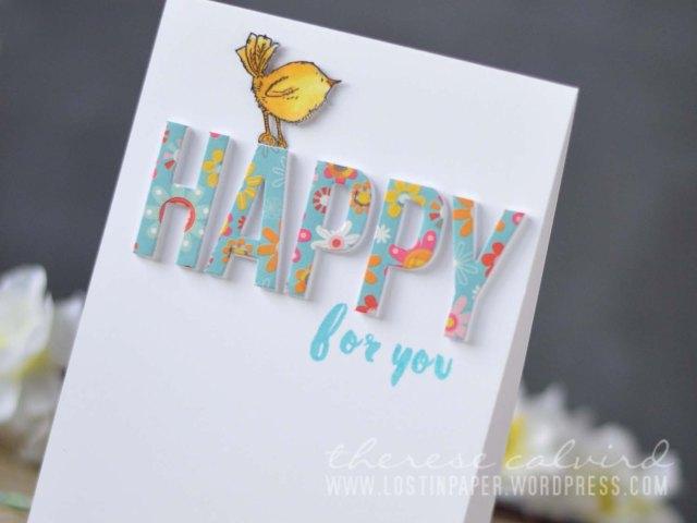Lostinpaper - One Die Three Ways - MFT Dienamics Happy / Penny Black / Altenew